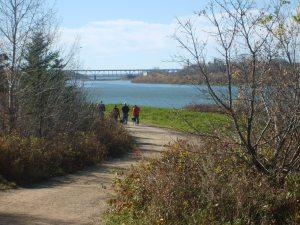 Geocachers on the trail